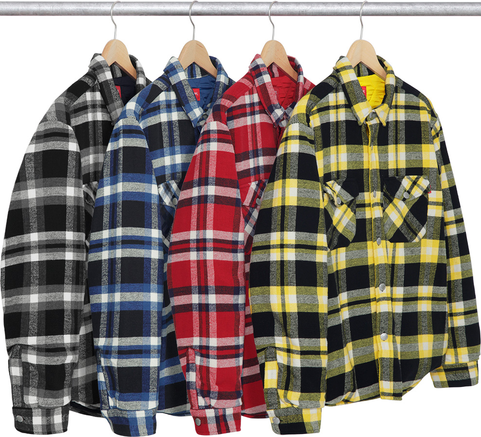 the quilted flannel independent supreme rarehouse en quilt shirt red x