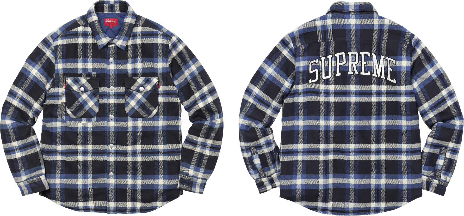 flannel arc quilt shirt shirts logo previews supreme quilted
