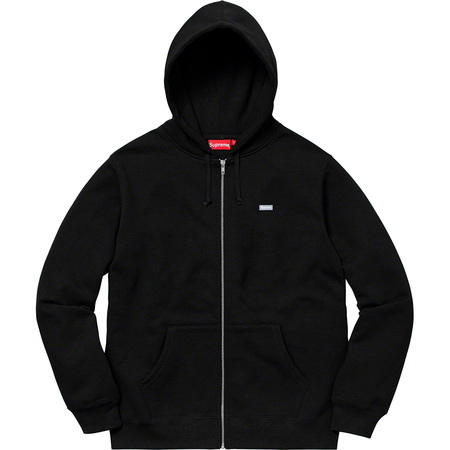 Reflective Small Box Zip Up Sweatshirt (Black)