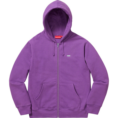 Reflective Small Box Zip Up Sweatshirt (Violet)