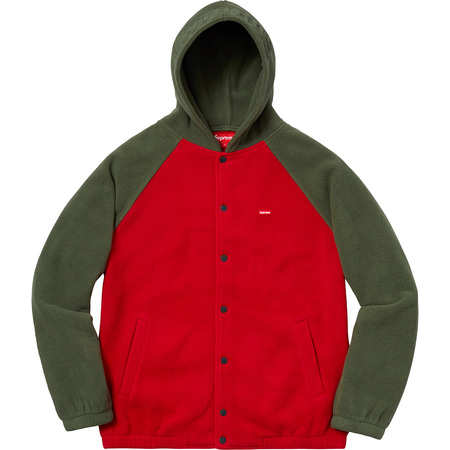 Polartec® Hooded Raglan Jacket (Red)