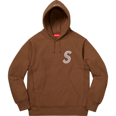 S Logo Hooded Sweatshirt (Brown)