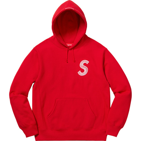 S Logo Hooded Sweatshirt (Red)