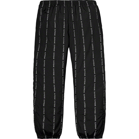 Reflective Text Track Pant (Black)