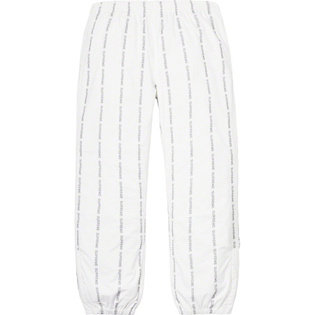 Reflective Text Track Pant (White)