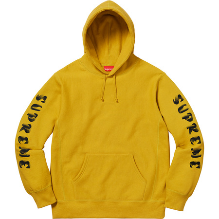Gradient Sleeve Hooded Sweatshirt (Mustard)