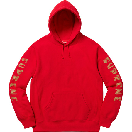 Gradient Sleeve Hooded Sweatshirt (Red)