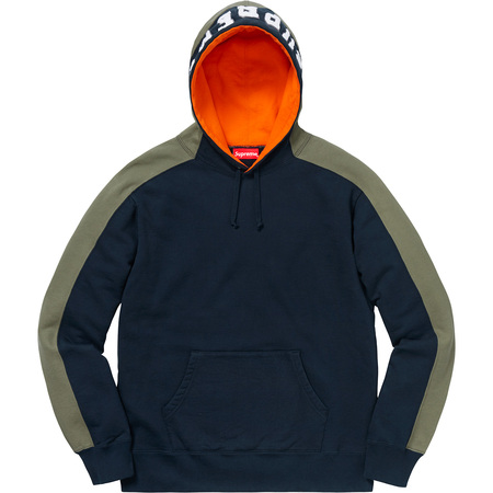 Paneled Hooded Sweatshirt (Navy)