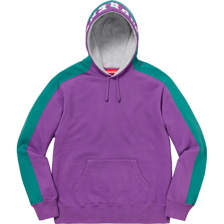 Paneled Hooded Sweatshirt (Violet)