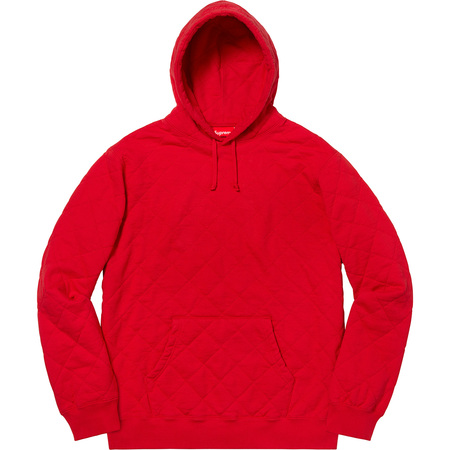 Quilted Hooded Sweatshirt (Red)