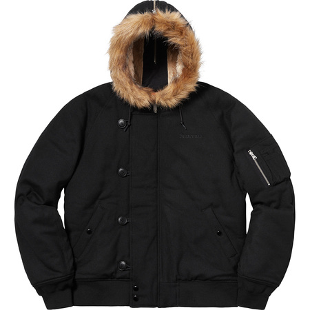 Wool N-2B Jacket (Black)