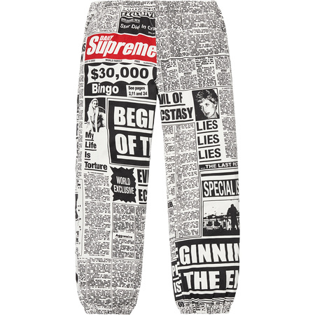 Newsprint Skate Pant (White)