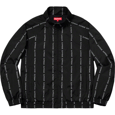 Reflective Text Track Jacket (Black)