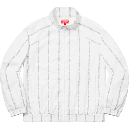 Reflective Text Track Jacket (White)