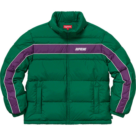 Stripe Panel Down Jacket (Green)