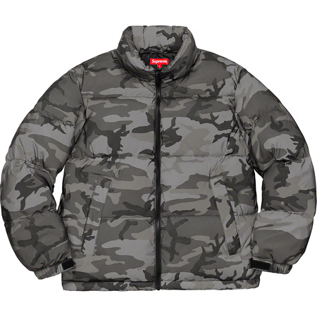 Reflective Camo Down Jacket (Snow Camo)