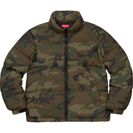 Reflective Camo Down Jacket (Woodland Camo)