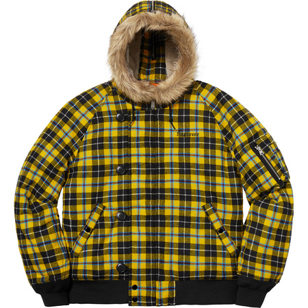 Wool N-2B Jacket (Yellow Plaid)