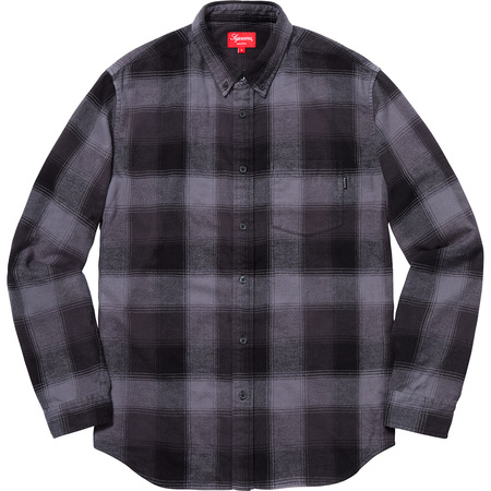 Shadow Plaid Flannel Shirt (Black)