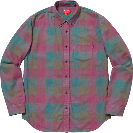 Shadow Plaid Flannel Shirt (Dark Magenta)