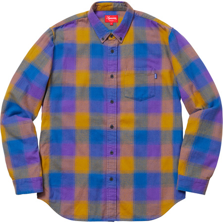 Shadow Plaid Flannel Shirt (Dusty Royal)