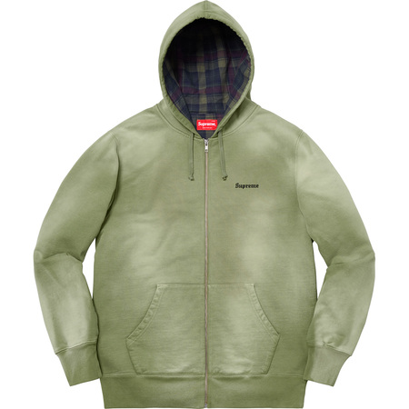 Bleached Zip Up Sweatshirt (Light Olive)