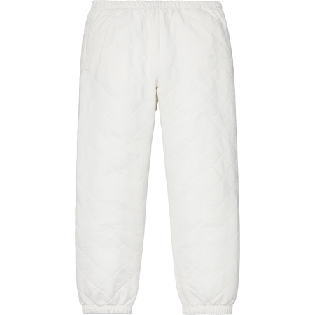 Quilted Sweatpant (White)