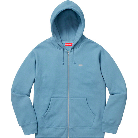 Reflective Small Box Zip Up Sweatshirt (Dusty Blue)