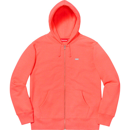 Reflective Small Box Zip Up Sweatshirt (Fluorescent Pink)