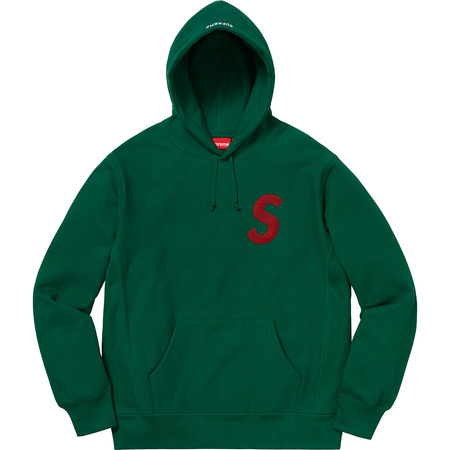 S Logo Hooded Sweatshirt (Dark Green)