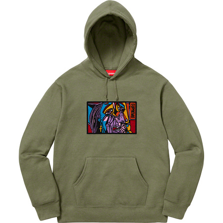 Chainstitch Hooded Sweatshirt (Light Olive)