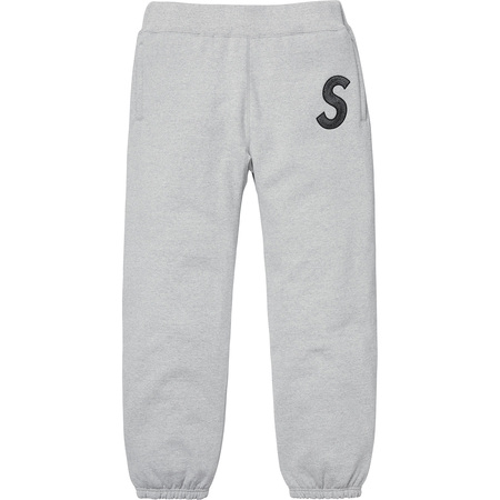S Logo Sweatpant (Heather Grey)