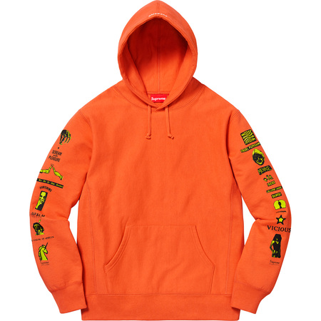 Menace Hooded Sweatshirt (Bright Orange)