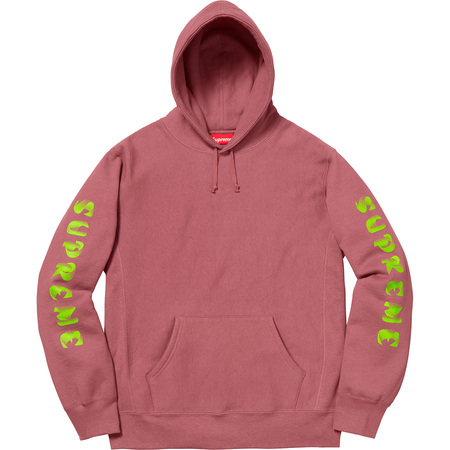 Gradient Sleeve Hooded Sweatshirt (Dark Rose)