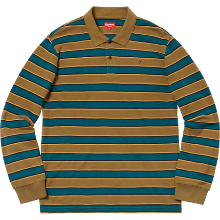 Striped L/S Polo (Gold)