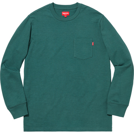 L/S Pocket Tee (Dark Teal)
