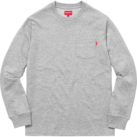 L/S Pocket Tee (Heather Grey)