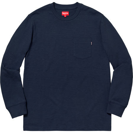 L/S Pocket Tee (Navy)