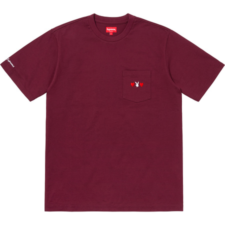 Supreme®/Playboy© Pocket Tee (Burgundy)