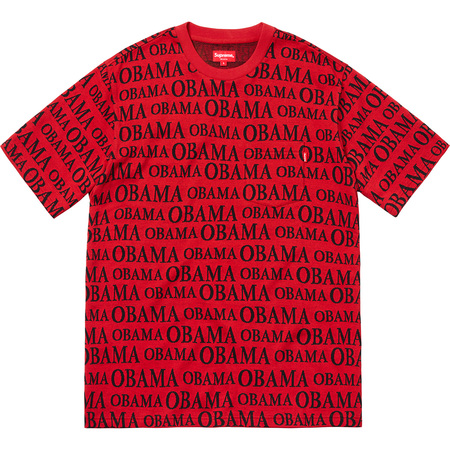 Obama Jacquard S/S Top (Red)