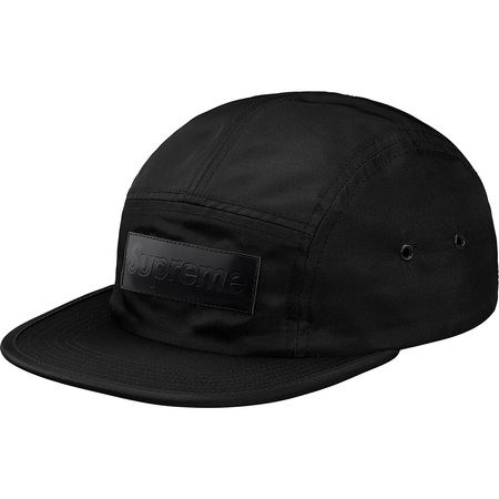 Patent Leather Patch Camp Cap (Black)