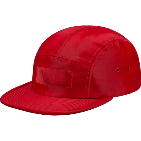 Patent Leather Patch Camp Cap (Red)