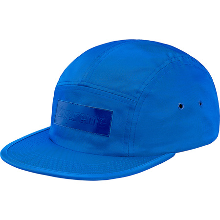 Patent Leather Patch Camp Cap (Royal)