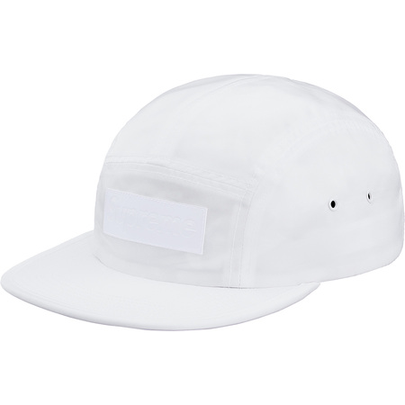 Patent Leather Patch Camp Cap (White)