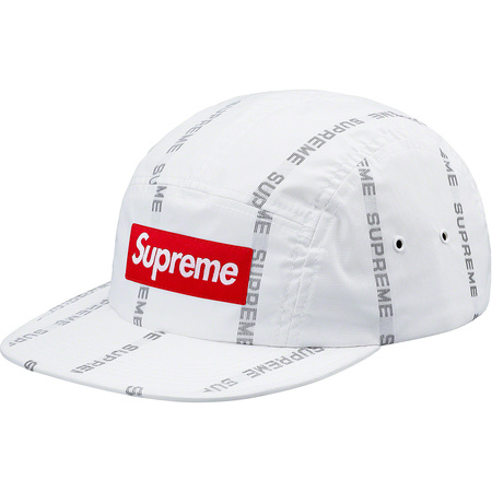 Reflective Text Camp Cap (White)