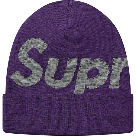 Big Logo Beanie (Bright Purple)