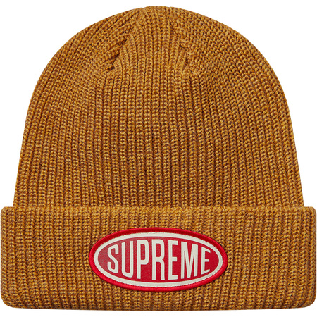 Oval Patch Beanie (Gold)