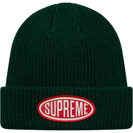 Oval Patch Beanie (Green)