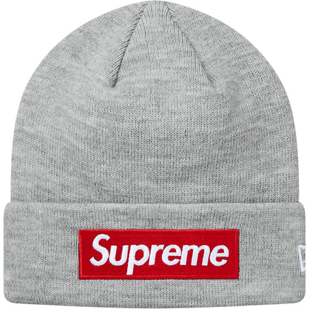New Era® Box Logo Beanie (Heather Grey)