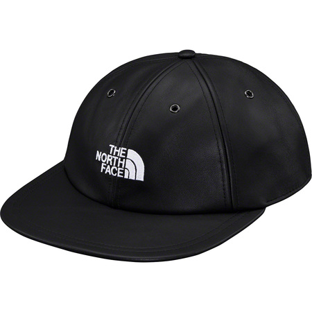 Supreme®/The North Face® Leather 6-Panel (Black)